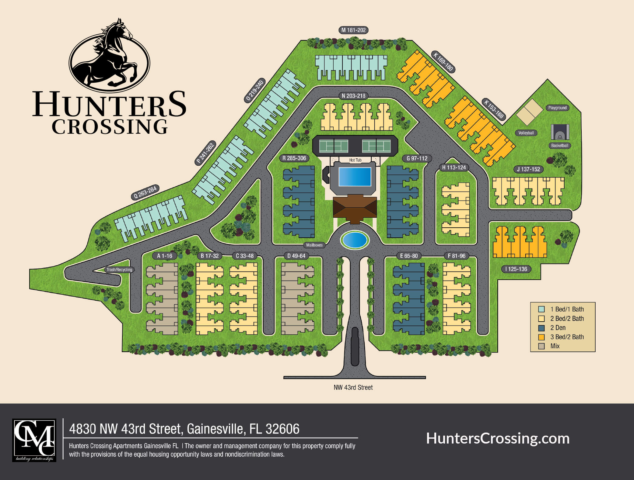 Hunters Crossing Sitemap